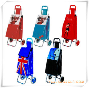Two Wheels Shopping Trolley Bag for Promotional Gifts (HA82011) pictures & photos