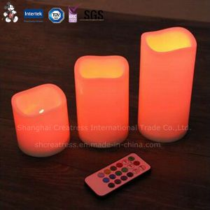 Factory Price Cheap Ivory Battery Operated LED Taper Candle pictures & photos