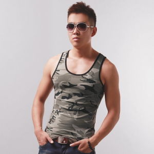 Cool Mens Camo Gym Vest pictures & photos