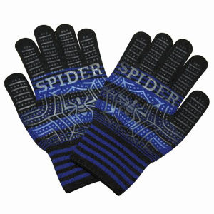 Fashion PVC Dotted Nylon Knitted Magic Gloves (YKY5410) pictures & photos