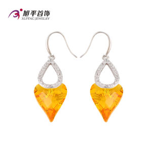 E-125 Xuping Luxury Double Heart-Shaped CZ Crystals From Swarovski Earring in Rhodium -Plated pictures & photos
