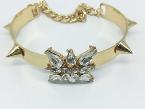 Resin Stone Gold Plating Bangle (XBL13557) pictures & photos