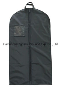 Promotional Custom Black Plastic PEVA Suit Cover Garment Bag pictures & photos