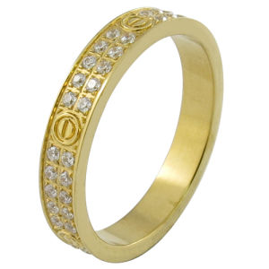 Micro Pave Setting Stamp 18k Solid Custom Gold Jewelry pictures & photos