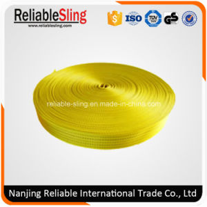 Ce SGS 75mm Yellow Polyester Webbing Straps pictures & photos