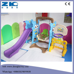 Panda Plastic Slide with Swing and Basketball pictures & photos