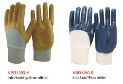 3/4 Coated Double Layer Nitrile Gloves pictures & photos