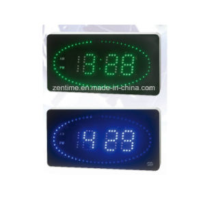 Electronic Circling LED Digital Wall Time Clock pictures & photos