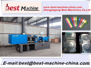 Quality Assurance of Household Disposable Palstic Cutlery Injection Moulding Making Machine pictures & photos