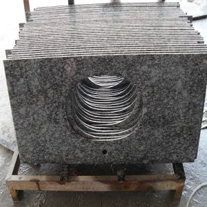 Spray White Granite Prefabricated Countertops for Kitchen