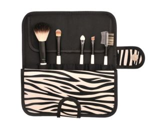 5PCS Makeup Brush with Zebra-Stripe Cosmetic Bag pictures & photos