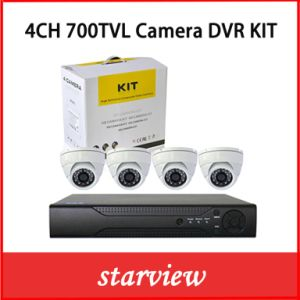 4CH DVR Kits +700tvl Sony CCD Indoor Dome Cameras pictures & photos