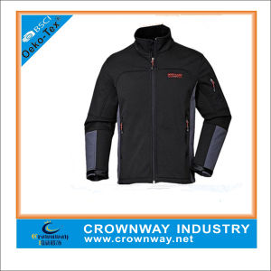 Outdoor Sport Black Foldable Softshell Jacket for Men pictures & photos