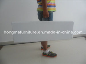 6FT Blow Molding Plastic Folding Bench for Wedding Use