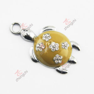 Flower Turtle Metel Charm for Jewelry Making (SPE)