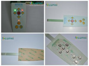 LED Backlighting Embossed Buttons Membrane Control Switch Overlay pictures & photos
