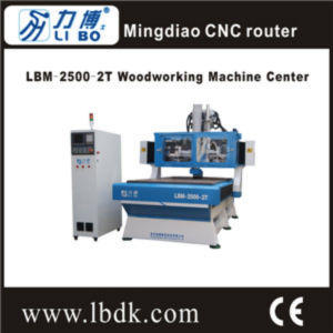Good Quality CNC Wood Router Engraver Machine with Double Heads