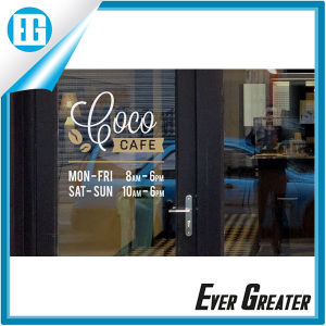 China Coffee Shop Store Hours Custom Window Decal Sticker China - Window decals for business hours