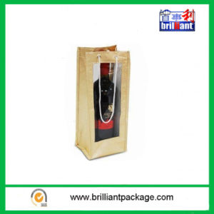 Cheap Promotion Wine Bottle Bags with Jute Material pictures & photos
