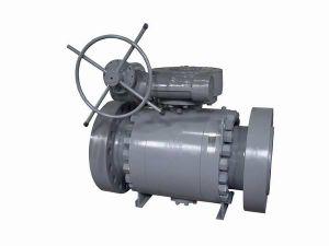 Turbine Flanged Full Bore Stainless Steel Ball Valve