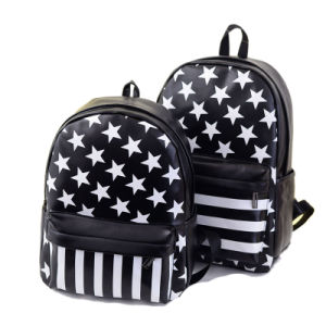 New Designer Stripes Five-Pointed Star Girl′s Backpacks for Ladies pictures & photos