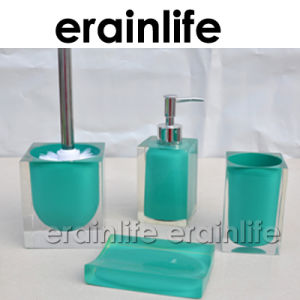 Blue Polyresin Toilet Brush Holder