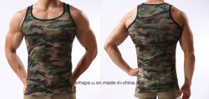 Cool Mens Camo Gym Tank with Quick-Drying pictures & photos