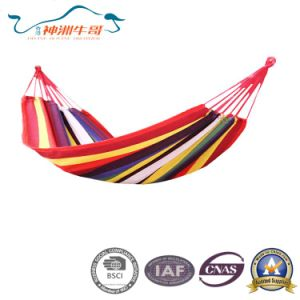 Folding Garden Hanging Cotton Portable Outdoor Camping Hammock pictures & photos
