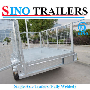 Single Axle Cage Trailer Heavy Duty pictures & photos