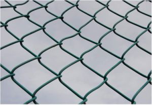 Railway Fence PVC Coated Iron Wire Mesh Chain Link Fence pictures & photos