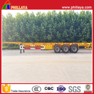 3 Axle 40tons Platform Skeletal Container Semi Truck Semitrailer Trailer pictures & photos