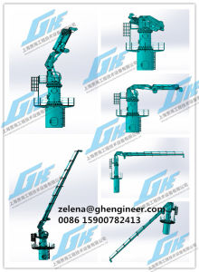 CCS Certificate 2.5t22m Knuckle Telescopic Boom Marine Crane pictures & photos