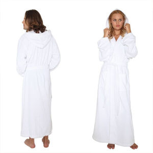100%Cotton White Hotel Terry Towel Bathrobe (DPH7426) pictures & photos
