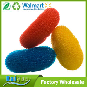 Long Lasting Non-Stick Surfaces Plastic Mesh Scourer, 3-Pack pictures & photos