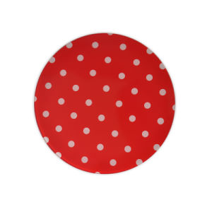 Red Round Dinner Plate FDA Approval pictures & photos