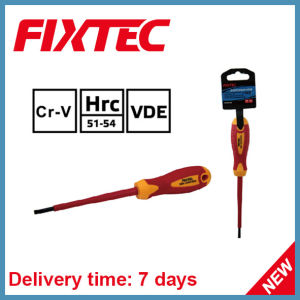 Fixtec Safety CRV 4mm 100mm Slotted Insulated Screwdriver pictures & photos