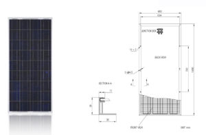 150W Polycrystal Solar Panel/PV Module with TUV Certificate pictures & photos