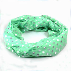 Shiny Dots Printed Woman Fashion Viscose Scarf pictures & photos