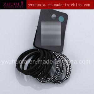 Black Round Shape Elastic Hair Tie pictures & photos
