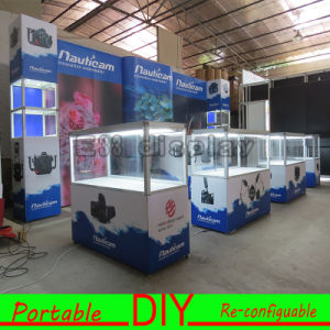 Portable Exhibition Stand Backwall Display with Fabric Printing pictures & photos