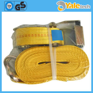Container Lashing Materials Strap for Pallets Ratchet Tie Down with Double J Hook pictures & photos