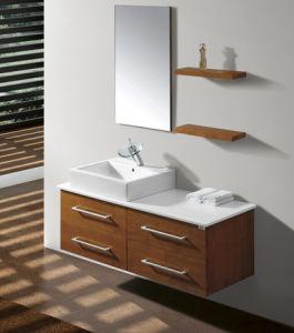Oak Veneer Bathroom Vanity #Yjb-2012 (4) pictures & photos