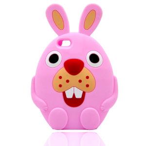 3D Cartoon Rabbit Silicone Case for iPhone 6 6splus 7 7plus (XSDW-031) pictures & photos