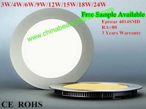 12W Epistar SMD 4014 Panel Light LED Downlight pictures & photos