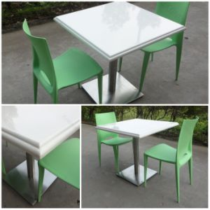 Cafe Shop Square White Commercial Tables and Chairs pictures & photos