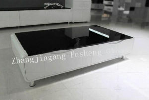 10mm Black Printing Tempered Glass for Table Top