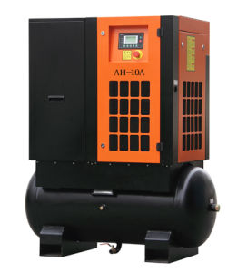 ISO, Ce, ASME Whole Sale Price of Tank Mounted Screw Air Compressor 5.5kw-15kw pictures & photos