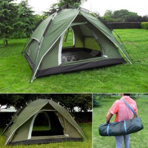 Fibreglass Pole Aluminium Alloys Outdoor Camping Tents with High Quality pictures & photos