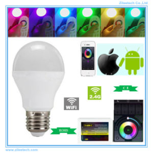 E27 Dimmable LED Ball Bulb Pixel Christmas Light WiFi Smart
