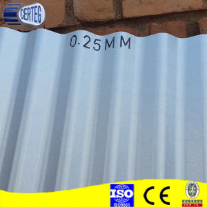 0.25mm Hot Selling Galvalume Corrugated Roof Sheet Stock pictures & photos